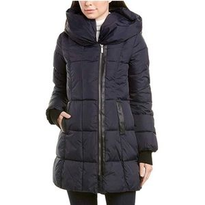 FRENCH CONNECTION navy quilted puffer coat